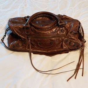 Balenciaga twiggy bag in brown chevre
